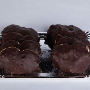 palmeritas de chocolate y nata