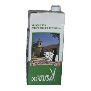 leche desnatada trapa palencia