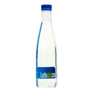 botella de agua de lebanza de medio litro